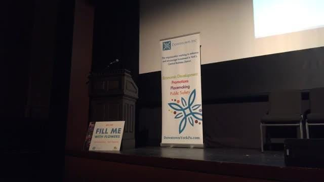 Downtown Inc. gave an update on its projects in downtown York at the Capitol Theatre Tuesday.
