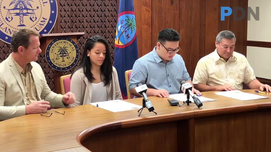 Gov. Leon Guerrero announces $10M in taxpayer refunds to be released over the weekend. Jordan Leon Guerrero serves as governor for Island Leadership Day.