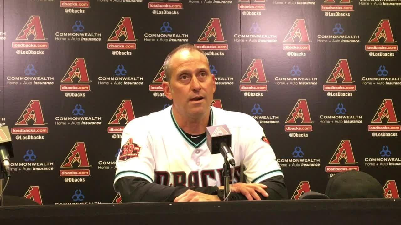 Diamondbacks manager Torey Lovullo discusses Tuesday's win over the Giants and Patrick Corbin's stellar night.