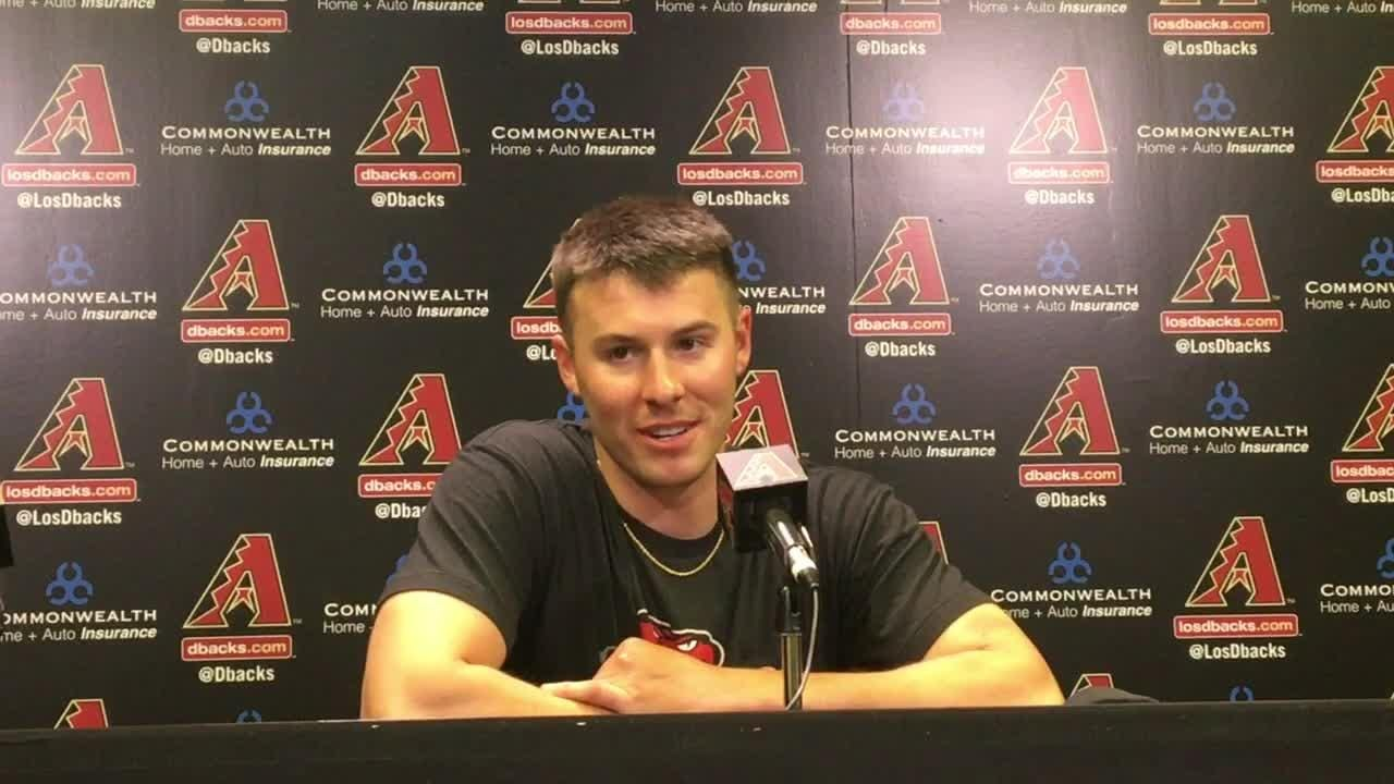 Diamondbacks left-hander Patrick Corbin discusses the one-hit shutout he threw against the Giants on Tuesday.
