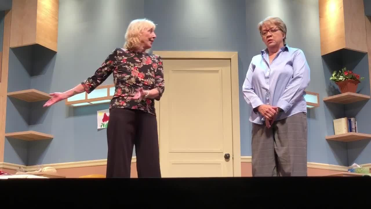 """""""Ripcord"""" dress rehearsal at Sugden Community Theatre on Tuesday, April 17, 2018."""