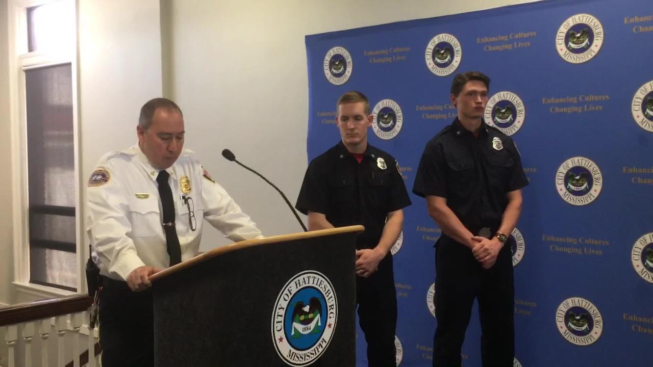 Hattiesburg welcomes 2 new firefighters