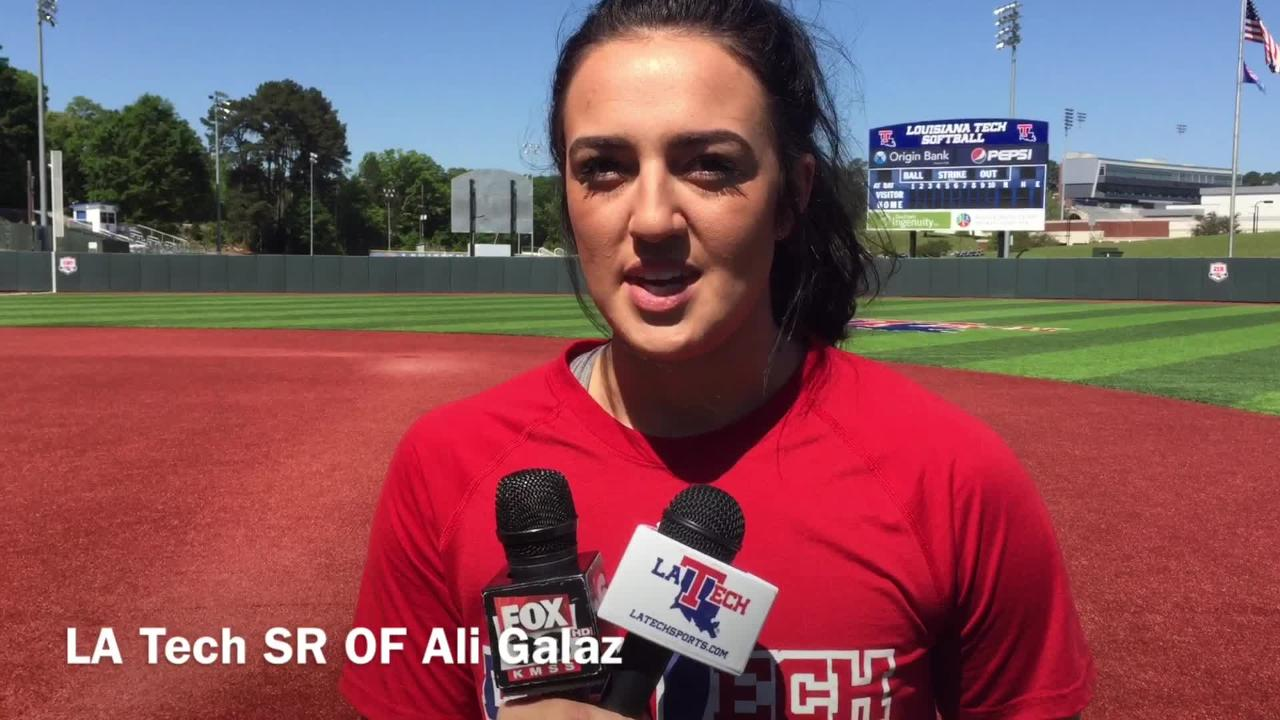 Louisiana Tech senior outfielder Ali Galaz shares how the Techsters feel comfortable in big games.