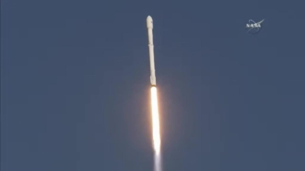 SpaceX launced a Falcon 9 rocket Wednesday evening from Launch Complex 40 at Cape Canaveral Air Force Station.