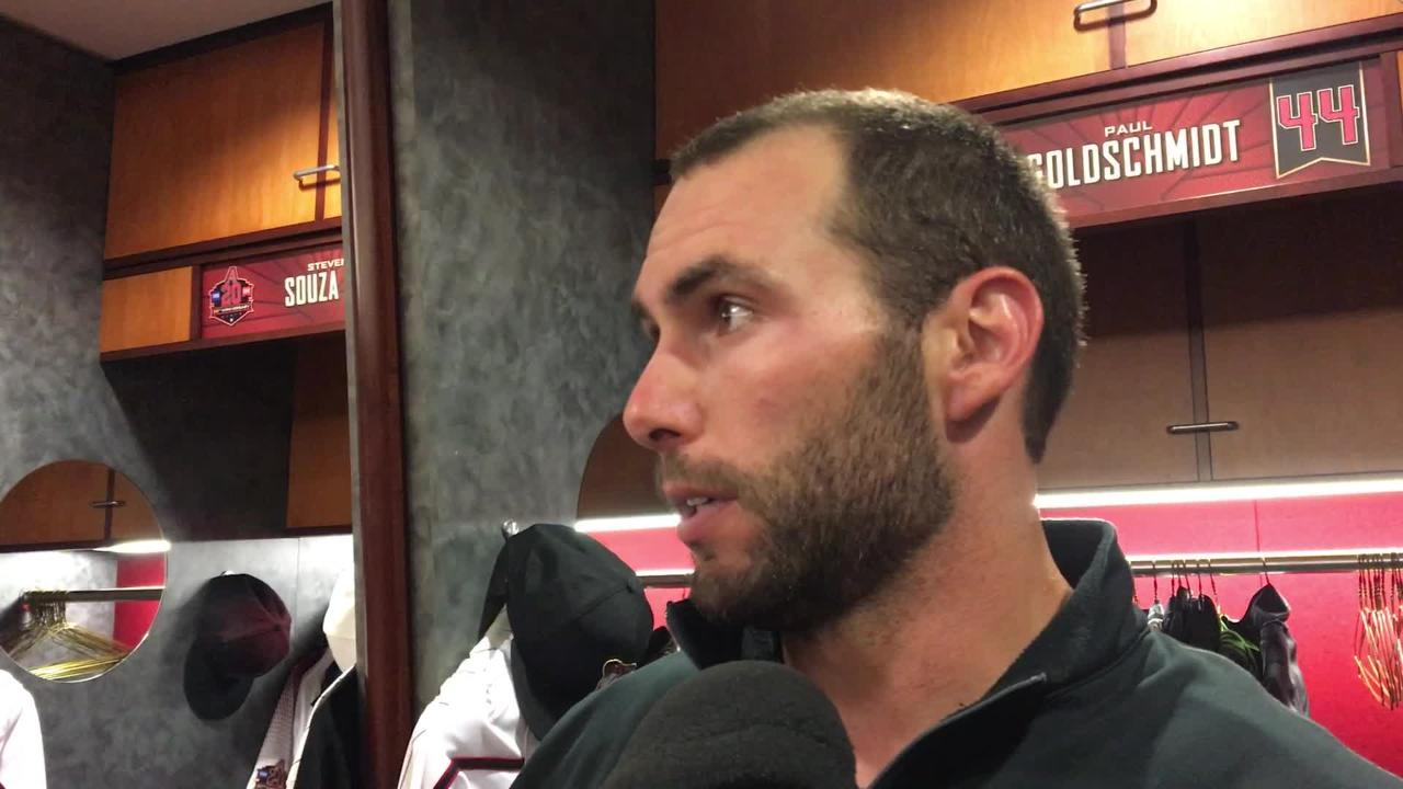 Slugger Paul Goldschmidt talks about the Diamondbacks' inability to push runs across late against the Giants on Wednesday night.
