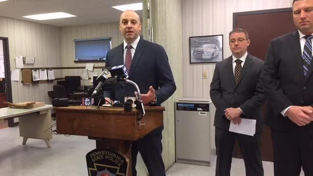 State police held a news conference Thursday morning to talk about the efforts to track down and arrest homicide suspect Lleland Grant Wade.