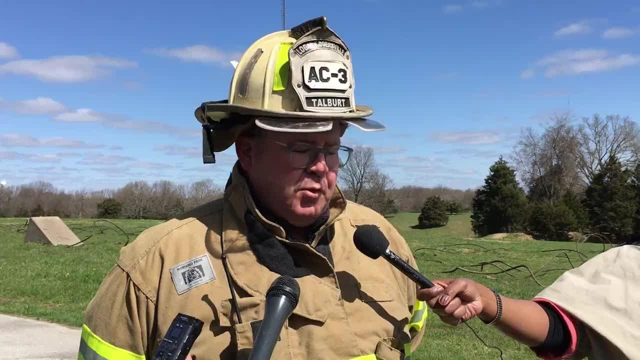 Logan-Rogersville Fire Protection District Assistant Chief Rob Talburt gave an update following a tower collapse near Fordland with 1 confirmed death.