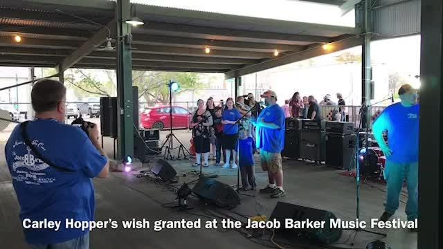 Chester County teen Carley Hopper gets her wish granted at the Jacob Barker Music Festival.