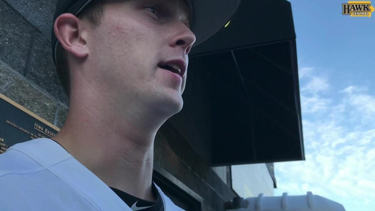 Iowa outfielder Robert Neustrom talks about the excitement of being in the postseason hunt.