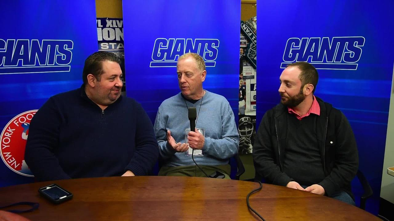 Art Stapleton, Andy Vasquez and Steve Popper together, discussing the upcoming draft