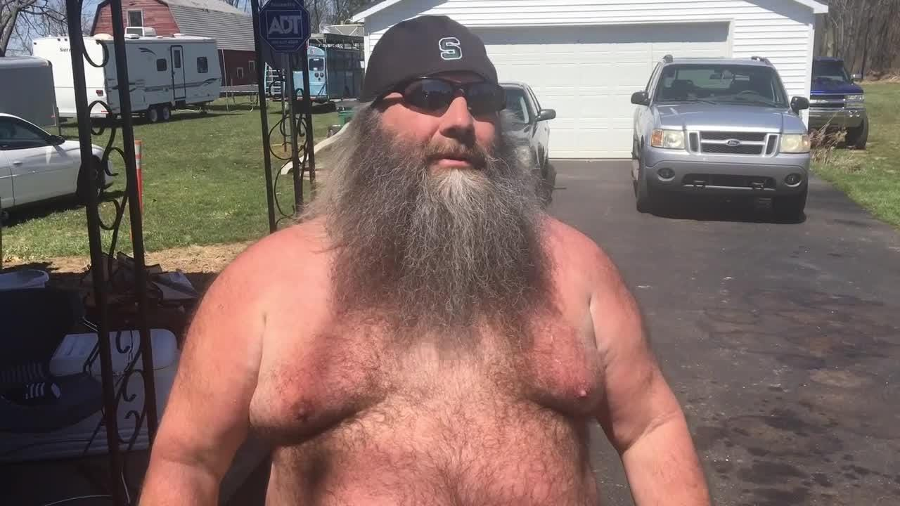 Battle Creek man goes viral after being shirtless at Tigers game