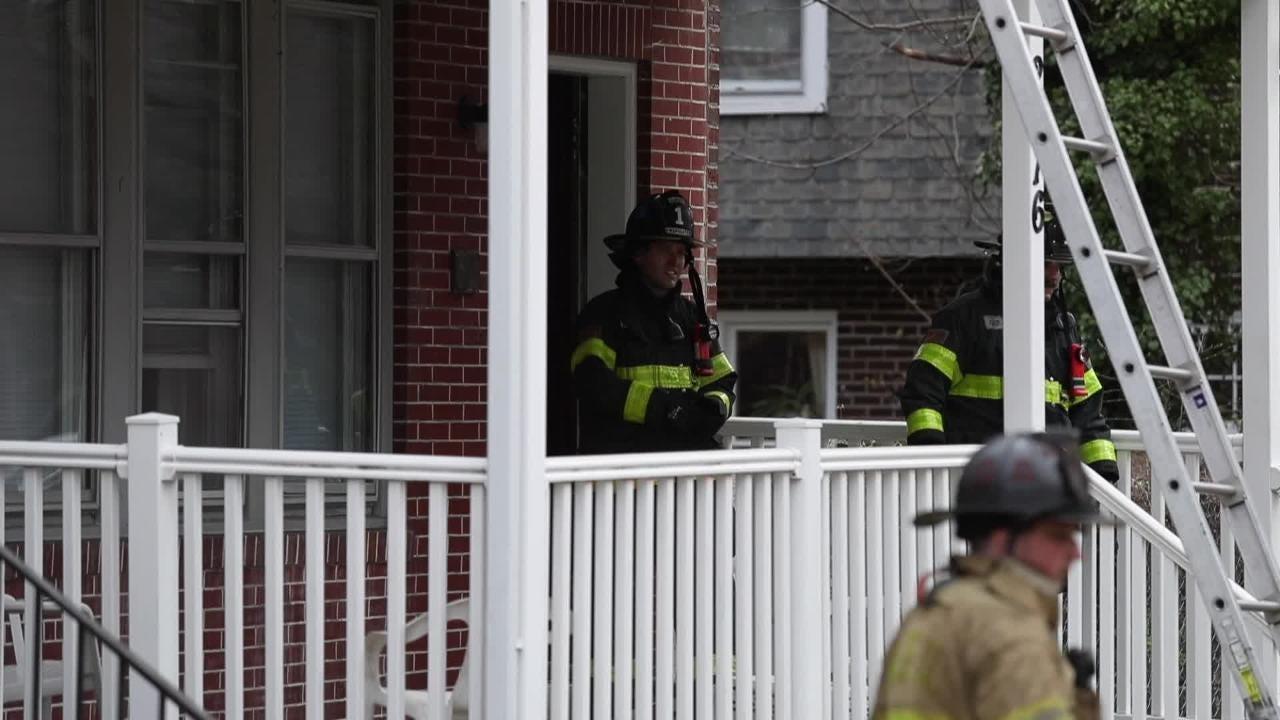 Raw Video: Firefighters on scene at Washington Street Fire