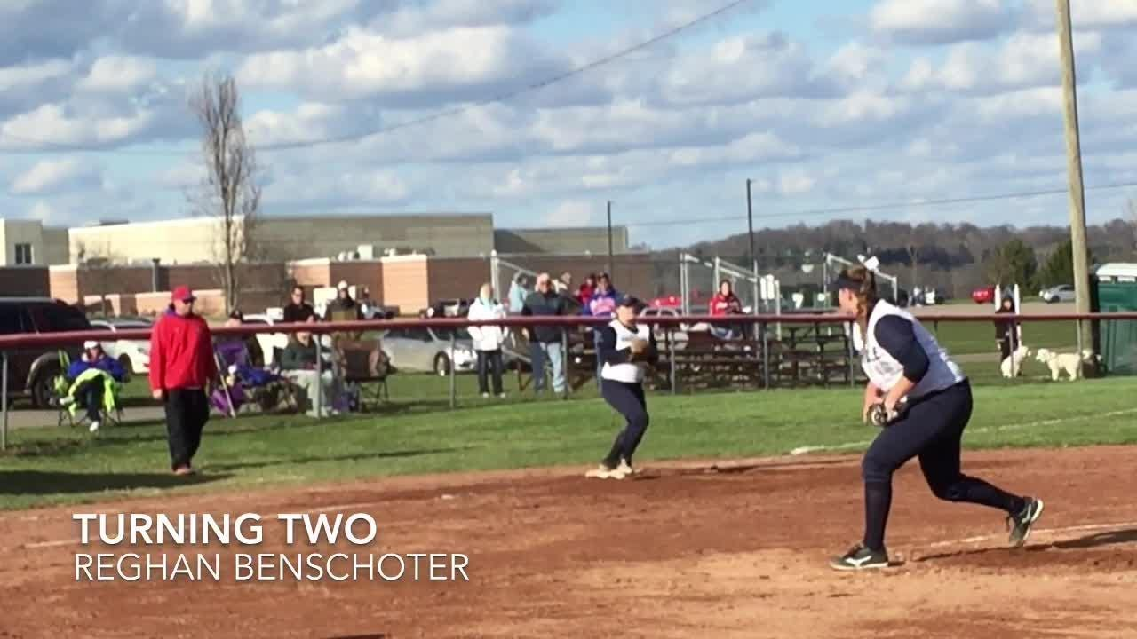 Host Lakewood exploded late to beat Granville 12-4 in LCL-Buckeye Division softball.