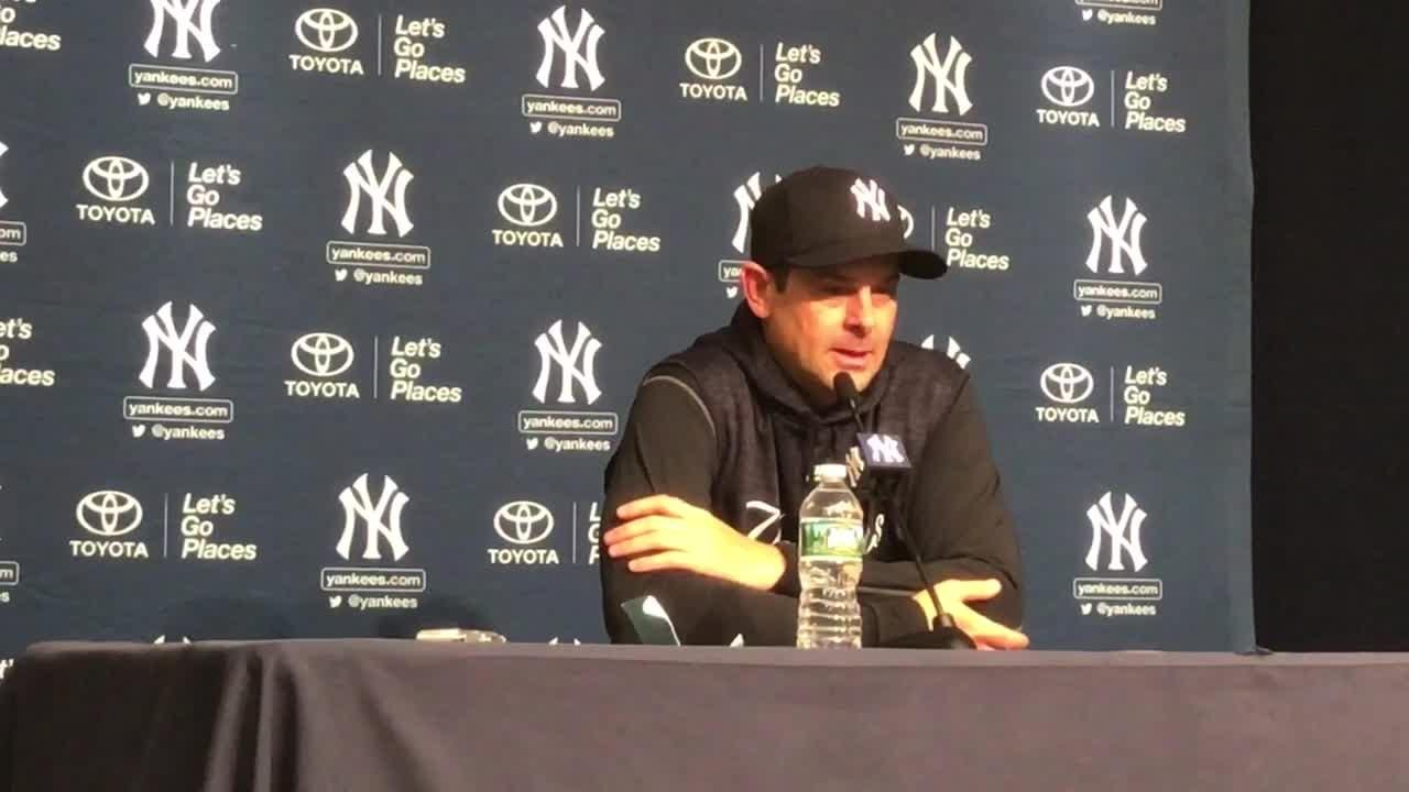 The Yankee manager was happy about CC Sabathia's return from the DL.