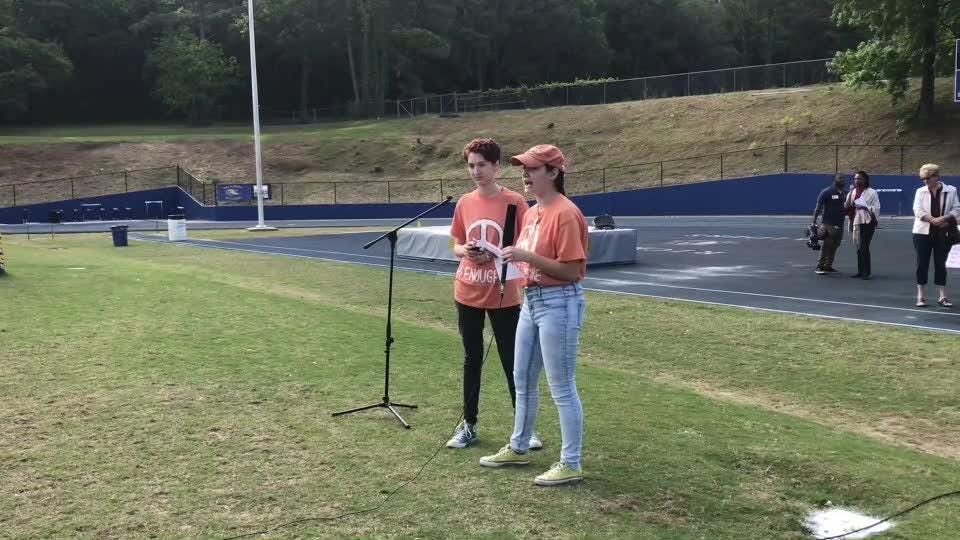 Students from Rickards High School join the national movement and walk out of their classrooms to protest gun violence.