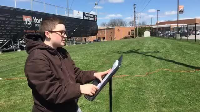 A handful of York Suburban students participated in today's National School Walkout event.