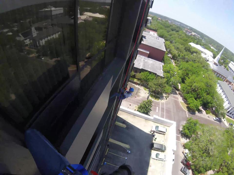 A Democrat photographer rappeled down the DoubleTree hotel Friday, April 20, 2018 as part of the annual Over the Edge fundraiser. See what she saw.