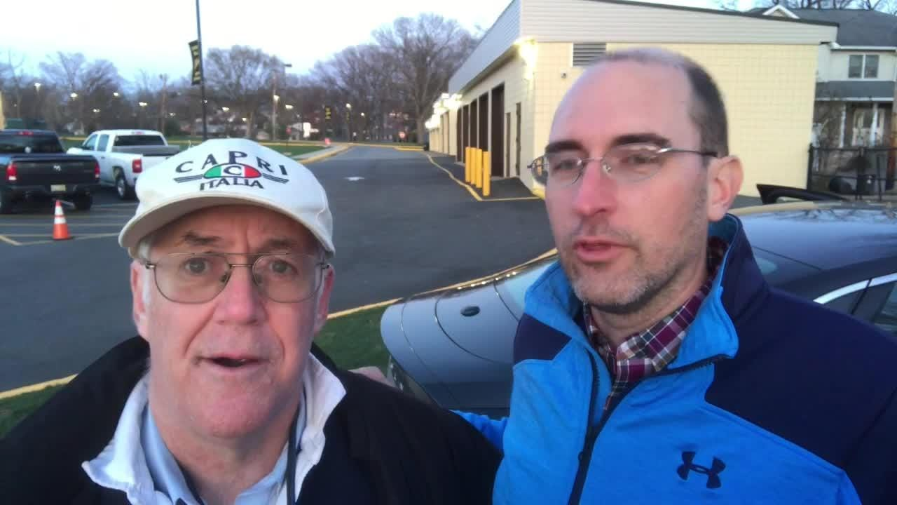 Paul Schwartz and Darren Cooper talk about the first day of the Jack Yockers Relays at River Dell.