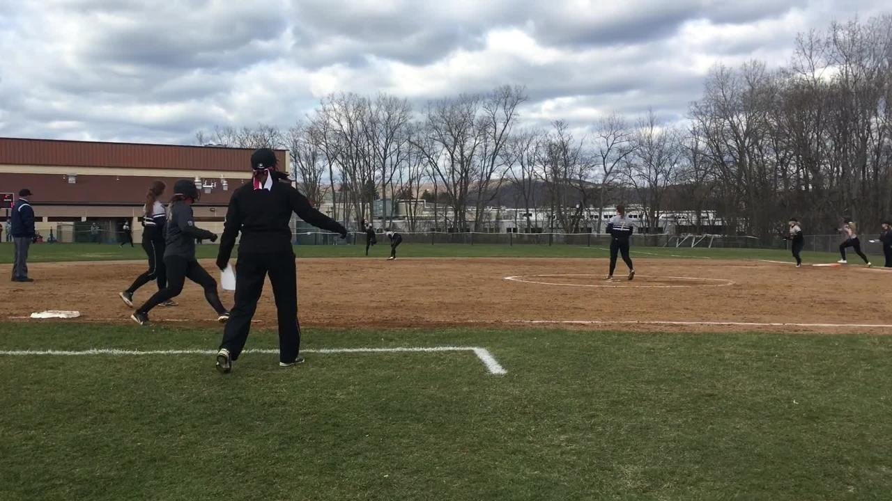 Elmira was a 3-0 winner over Corning in softball April 20 at Ernie Davis Academy.