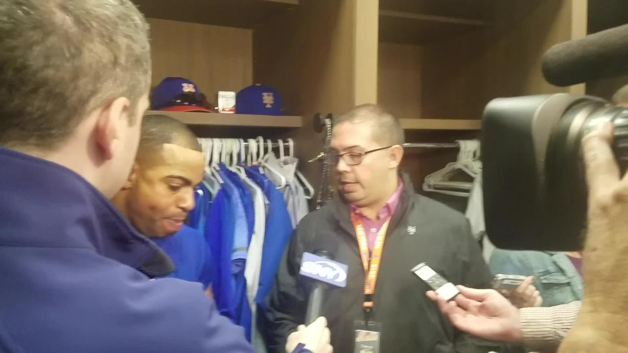 Yoenis Cespedes discusses his game-winning hit