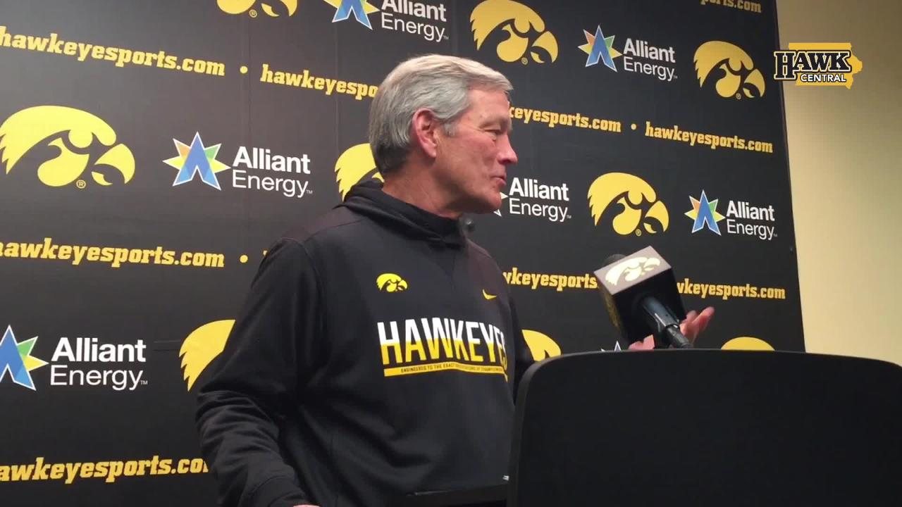 Iowa head coach Kirk Ferentz re-addresses his recent comment that soph WR Ihmir Smith-Marsette needed to get off his phone and into the film room.