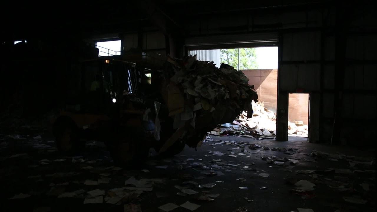 Materials collected through local single-stream recycling services are sorted and processed at the Marpan Recycling Facility Thursday, April 18, 2018.