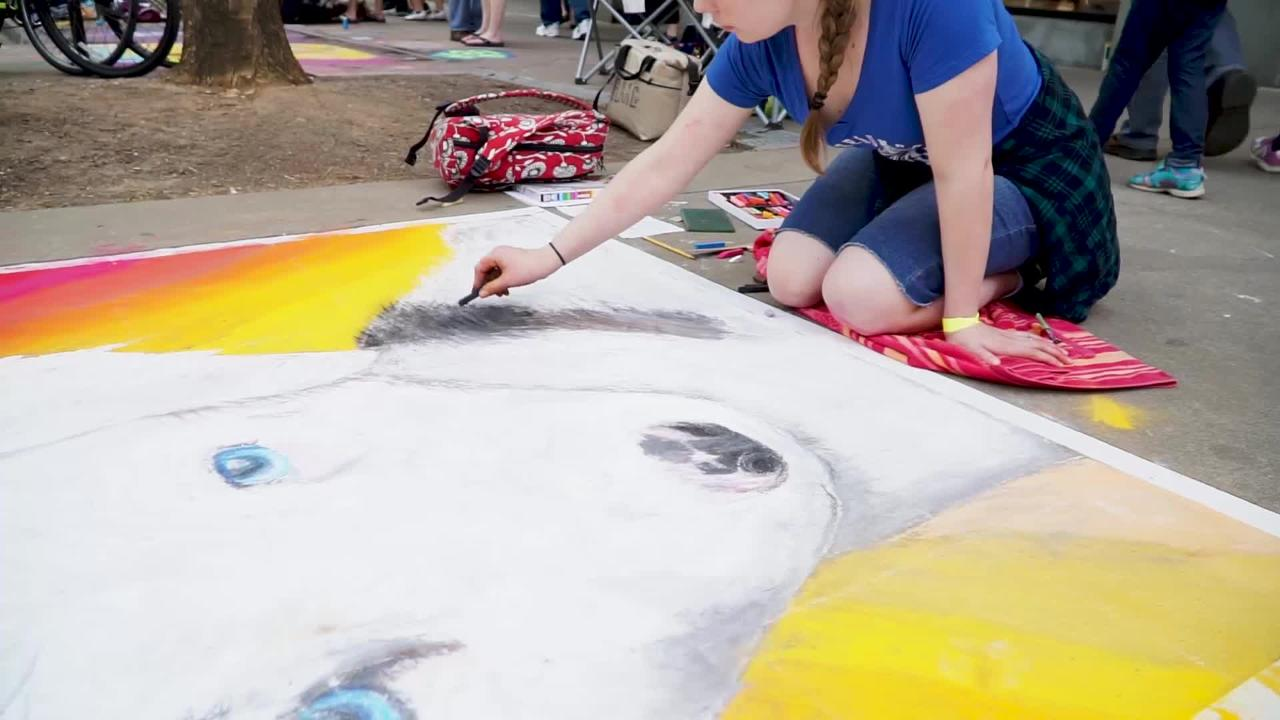 The annual Chalk Walk on Market Square returned on Saturday for its 10th year in downtown Knoxville.