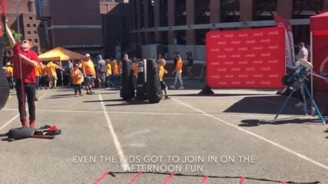 Fans gather before the Orange and White game to enjoy activities for the whole family