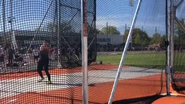Josh Sobota, of Bearden, throws the discus at the Volunteer Track Classic.