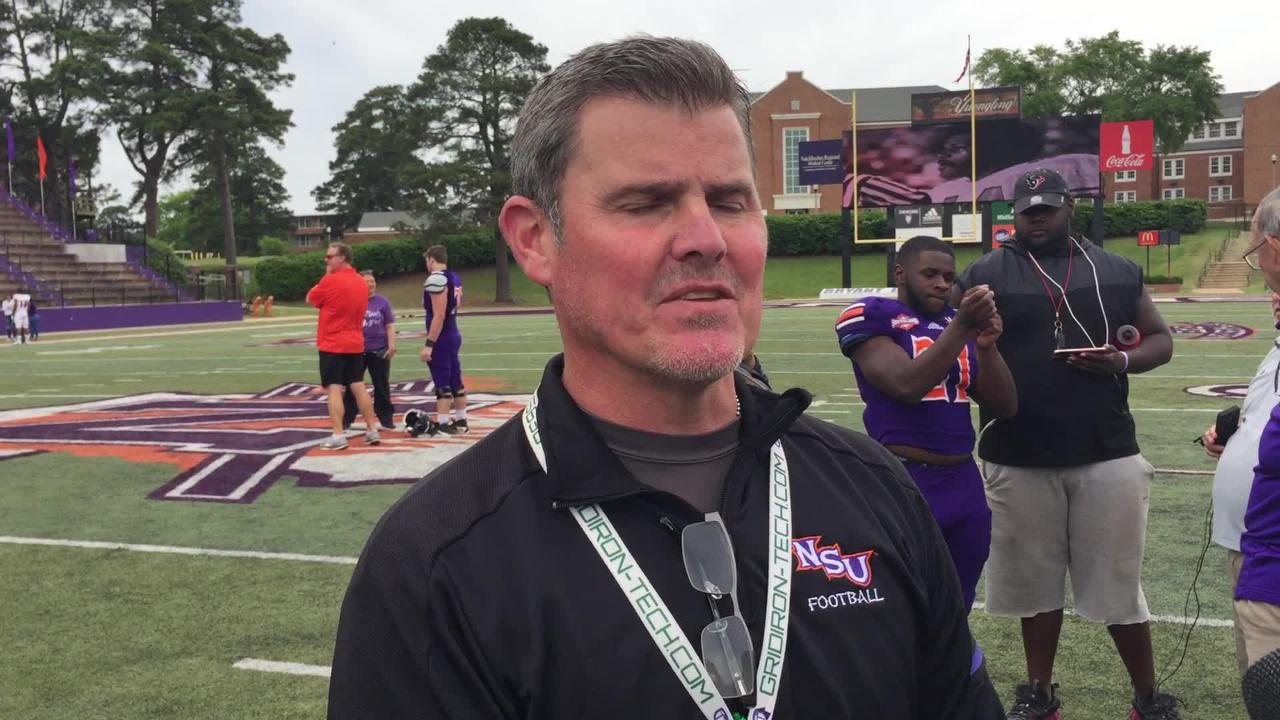 Northwestern State coach Brad Laird talks about his team following the Delaney Bowl.
