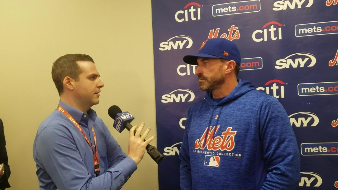 Mickey Callaway discusses the loss to Atlanta