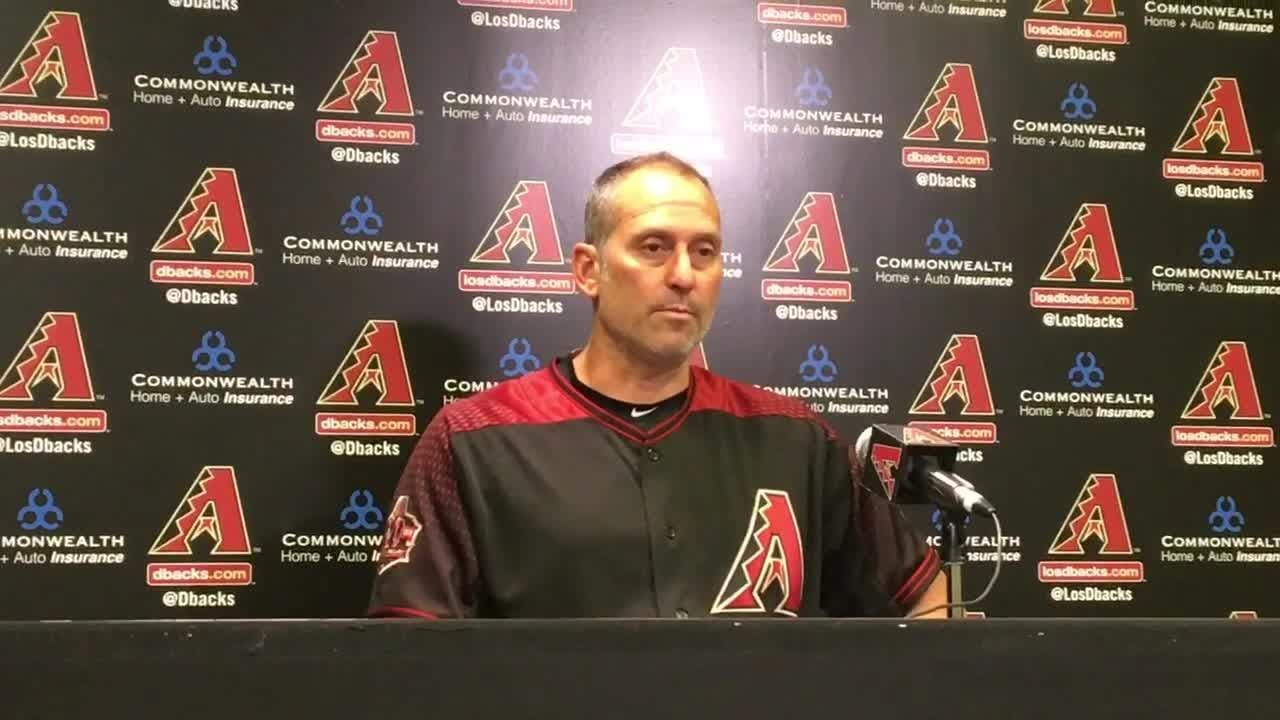 Diamondbacks manager Torey Lovullo discusses Saturday's win over the Padres.