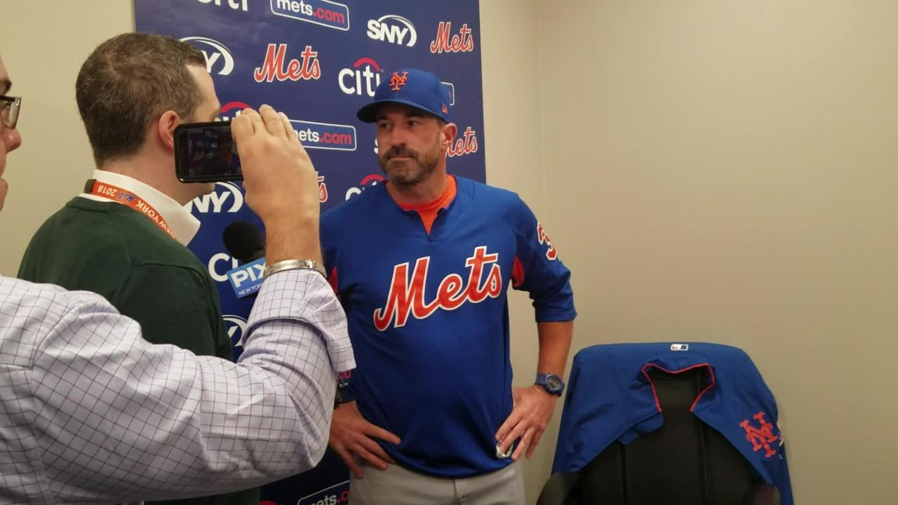 Mickey Callaway on Jay Bruce and whether Sunday's game will be played