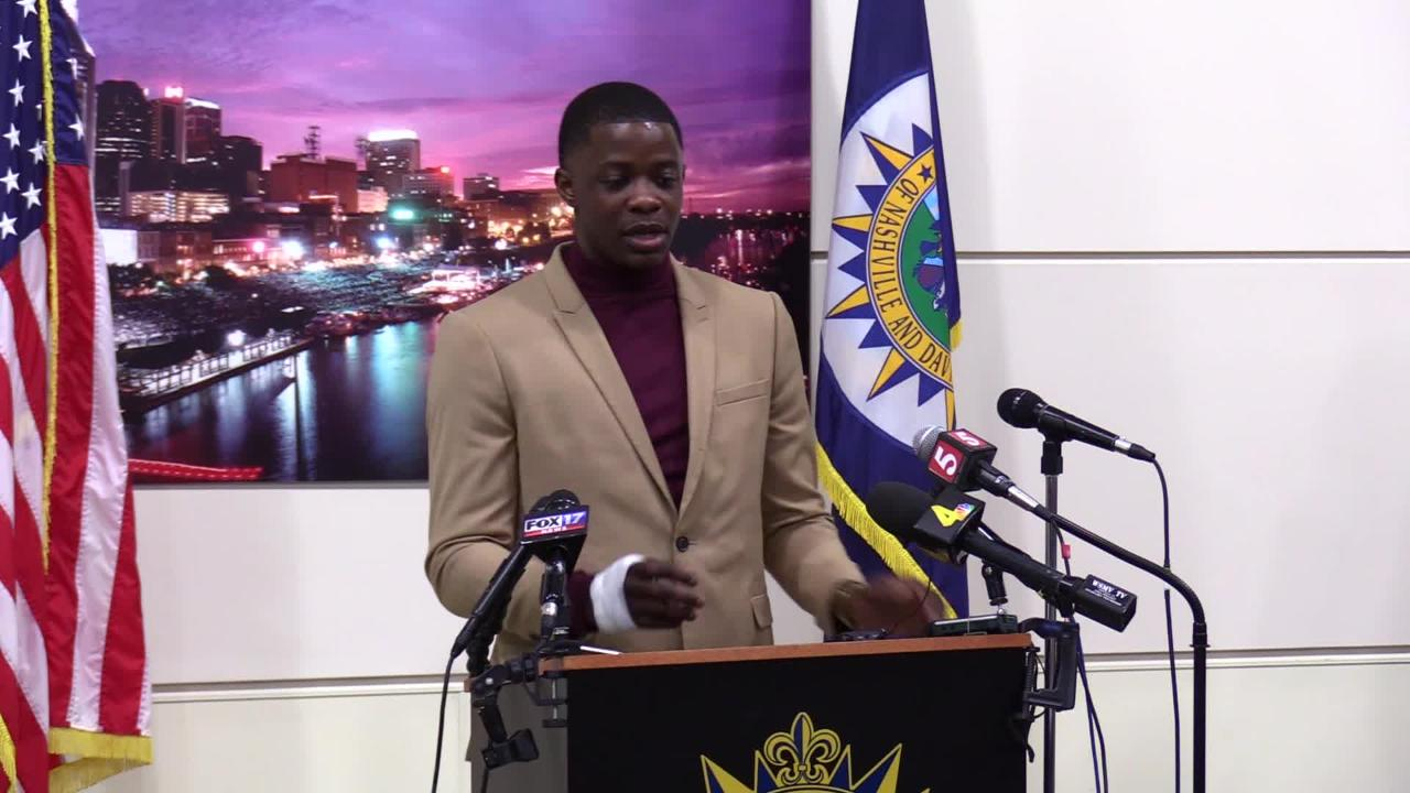 James Shaw Jr. discusses stopping Travis Reinking during the Sunday morning shooting at an Antioch Waffle House that left 4 people dead.