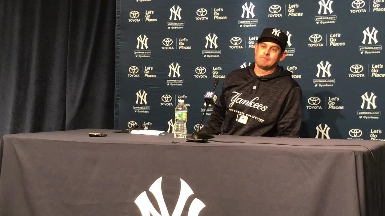 After Sunday's 5-1 win over Toronto, in which top prospect Gleyber Torres made his MLB debut, manager Aaron Boone discusses the Yanks' youth movement.