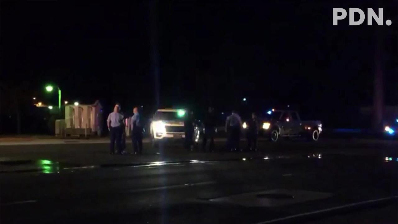 A car crashing into a pole on Route 1 near Harley Davidson in Asan was reported to emergency units earlier this evening. Emergency units are on scene.