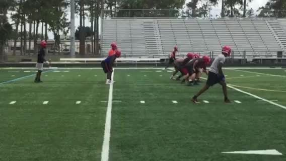 Immokalee runs offense during first day of spring practice