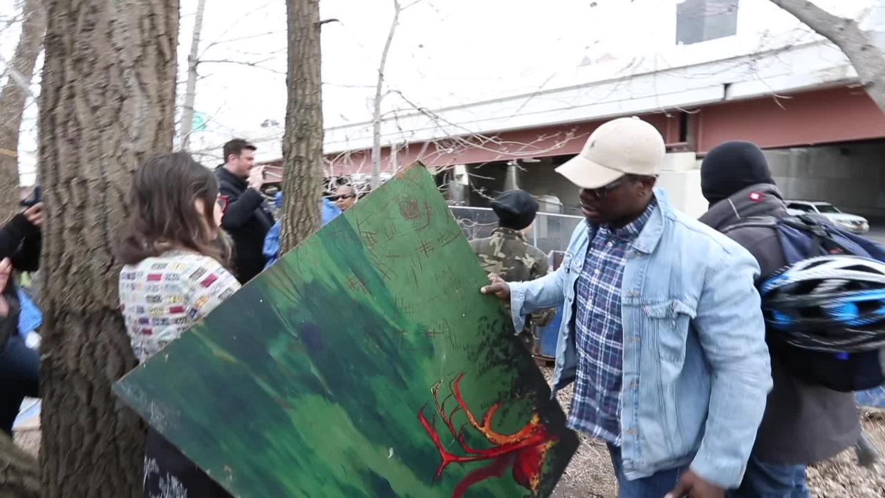The planned removal of a homeless encampment on South Avenue accelerated unexpectedly Tuesday morning.