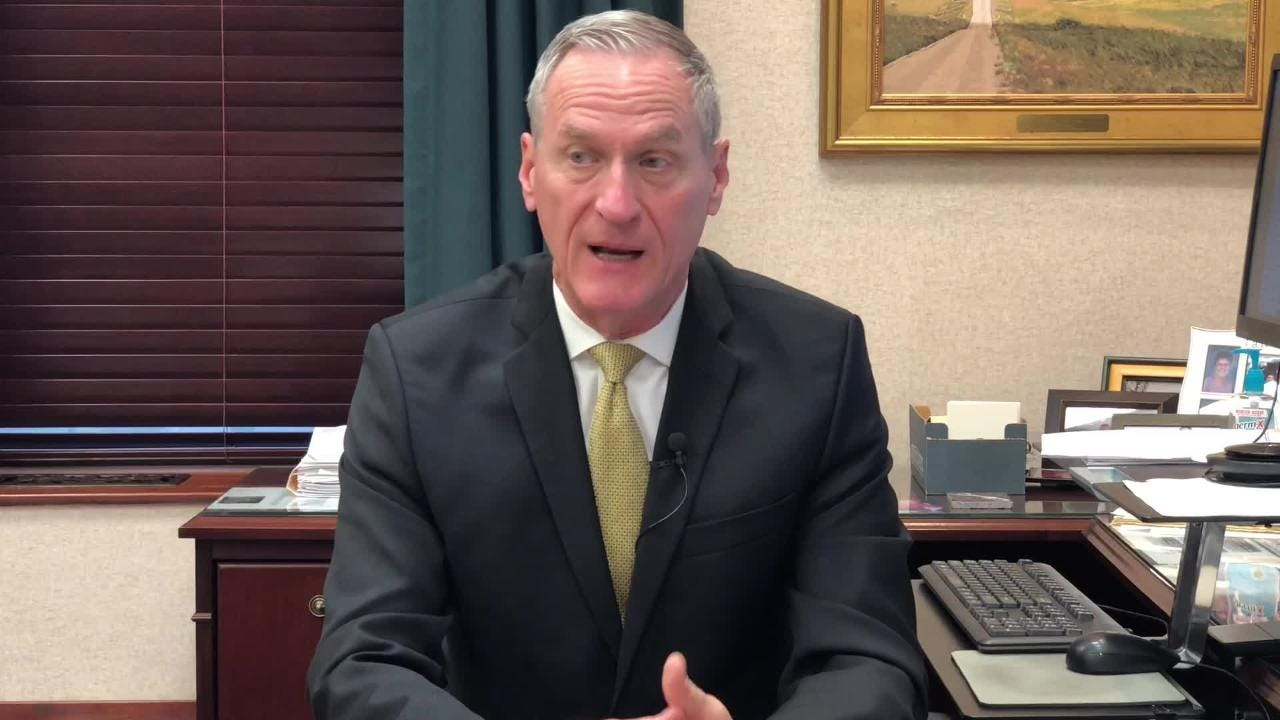 Gov. Dennis Daugaard talks teacher pay after South Dakota  moves out of its last-in-the-nation spot for the first time in 30 years, 2018.
