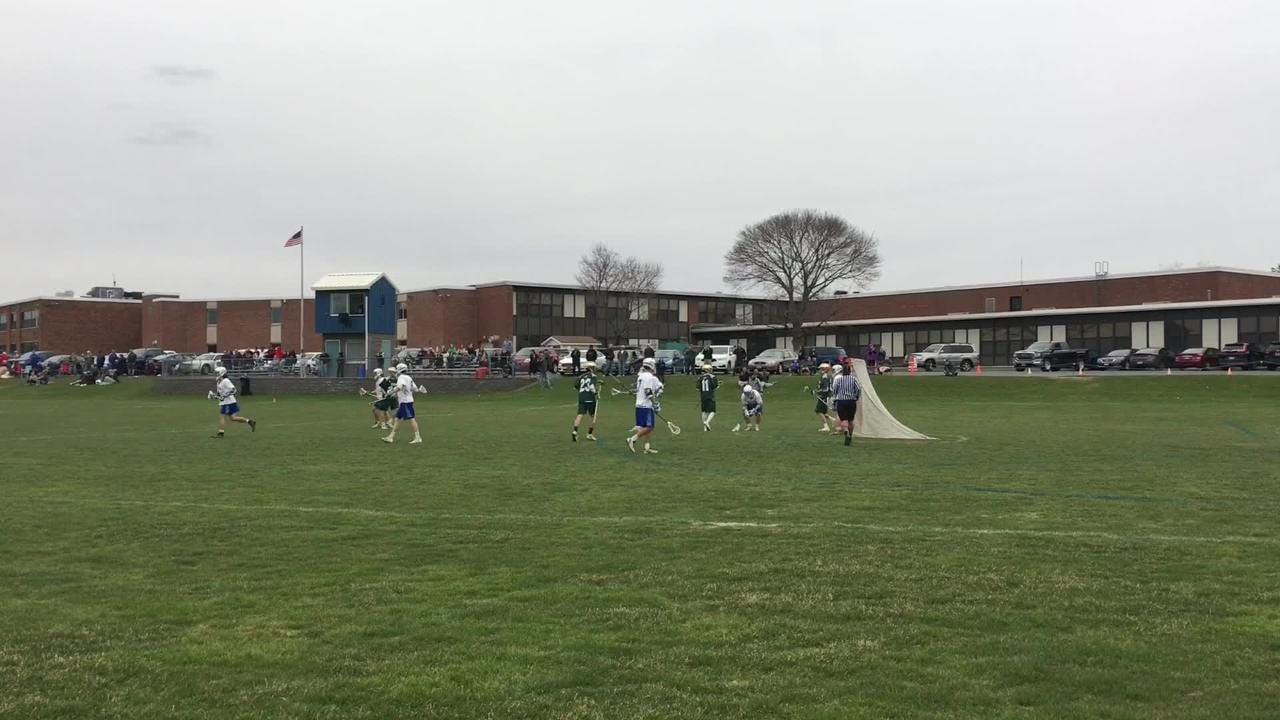 Brandon Bender's goal with 47 seconds left lifted Vestal to a 9-8 win over Horseheads in boys lacrosse April 24 at Horseheads.