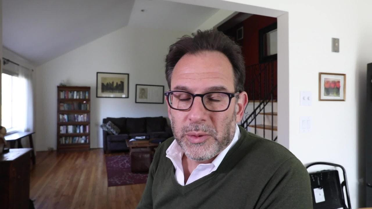 Andrew Friedman, author of Chefs, Drugs & Rock & Roll, at his Hastings-on-Hudson home April 23, 2018. (Peter Carr/The Journal News)