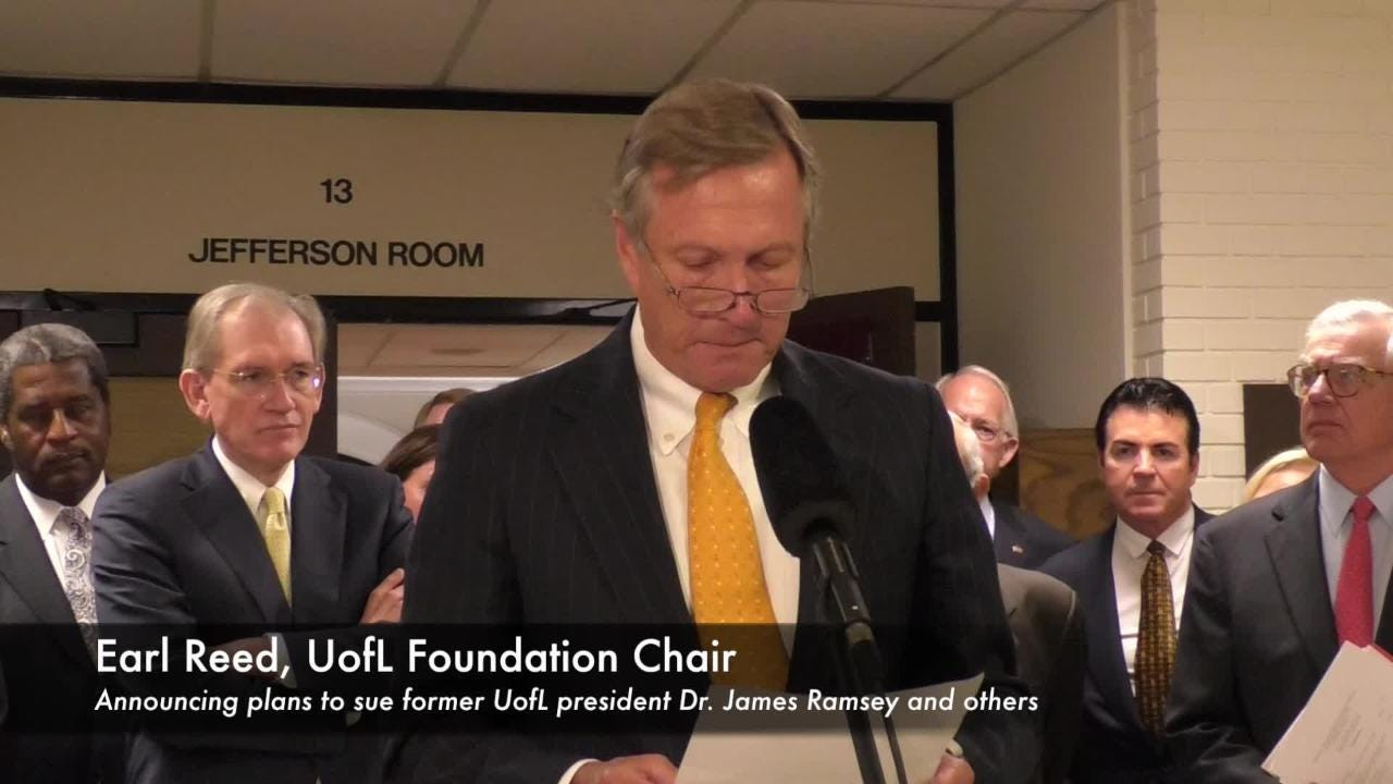 University of Louisville sues ex-President James Ramsey and others