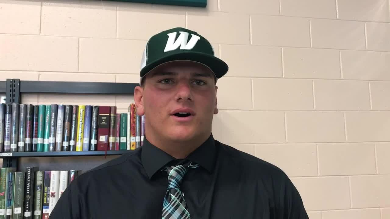 Gulf Coast's Colton Cormier talks about being one of 10 signees on Wednesday