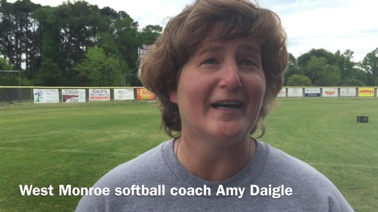 West Monroe softball coach Amy Daigle describes her team's playoff mindset.