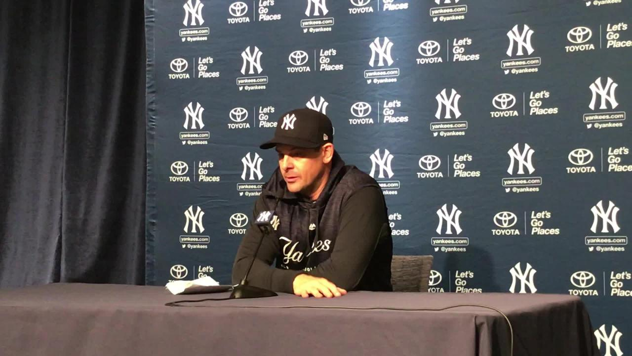 Besides being impressed with Tyler Austin and Didi Gregorius, Yankees manager Aaron Boone saw positives from Sonny Gray despite an early exit.