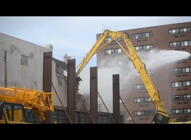 Footage of the first two days of the demolition of 109 E. Main Street