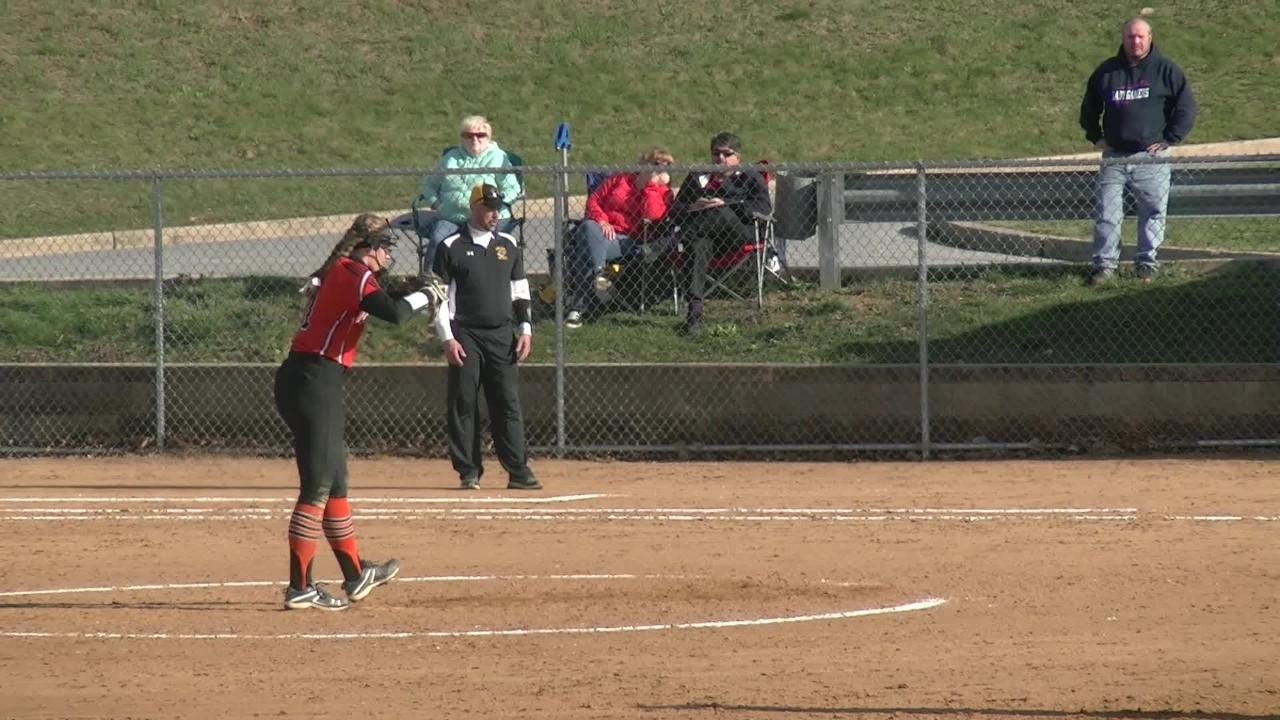 Central York's Courtney Coppersmith struck out 18 batters and allowed just two base runners in a 12-0 win over Red Lion Thursday.