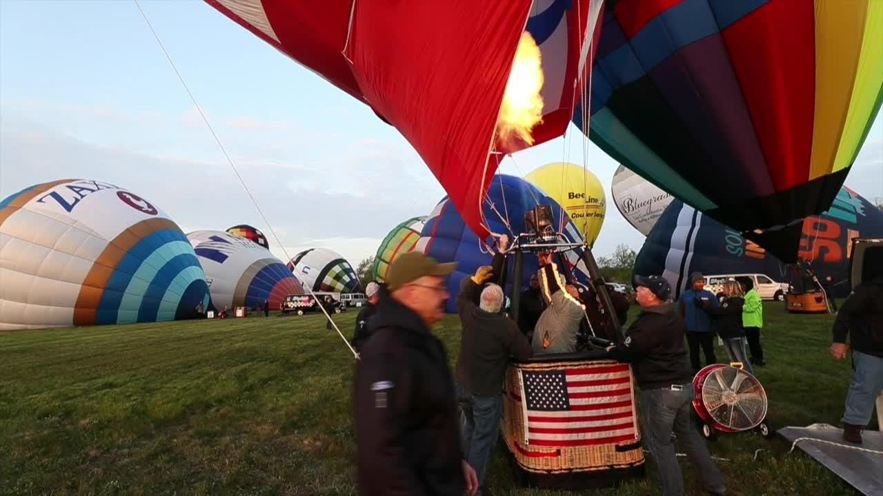About 20 balloons took to the sky on Thursday for the Great Balloon Charity Race. It's one of several balloon events leading up to the Kentucky Derby