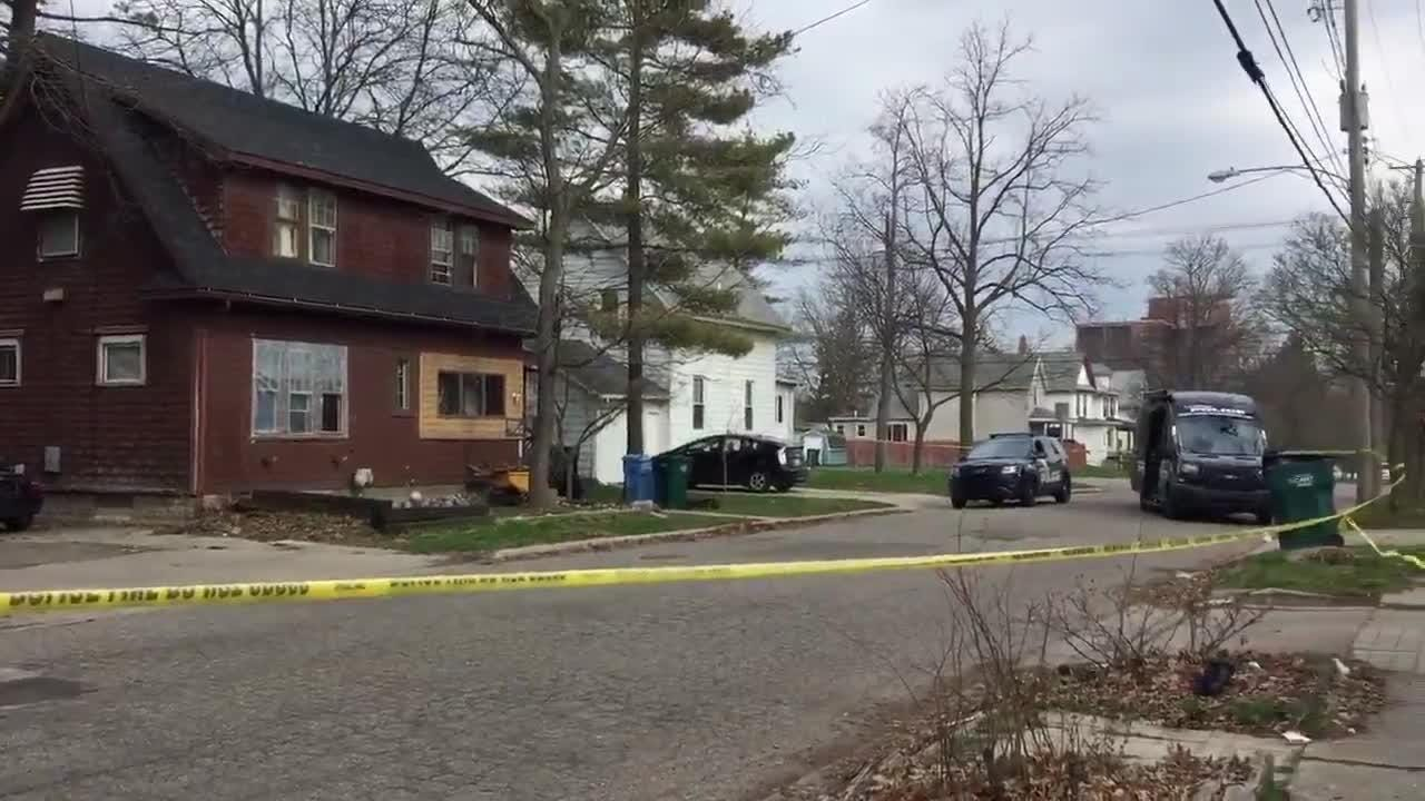 On the morning of April 27, Lansing police surrounded a home just south of Kalamazoo Street.  Officers blocked off an area on Jones Street.