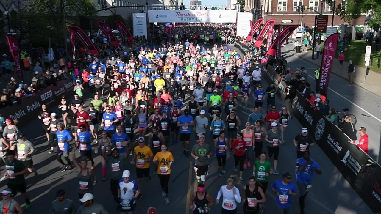 Rock n' Roll Nashville marathon start